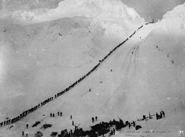 Miners climbing